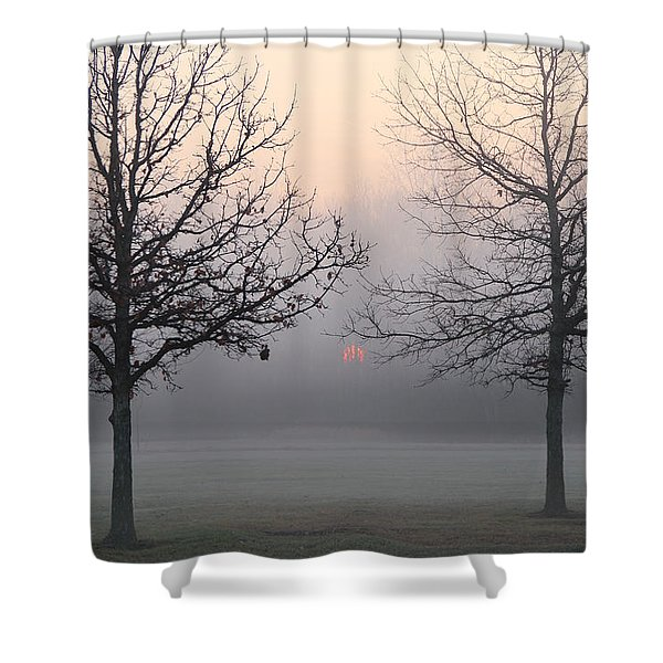 Early She Rises Shower Curtain