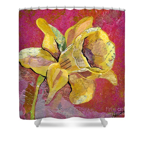 Early Spring I Daffodil Series Shower Curtain
