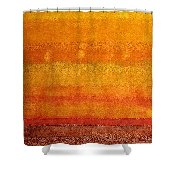 Earth And Sky Original Painting Shower Curtain