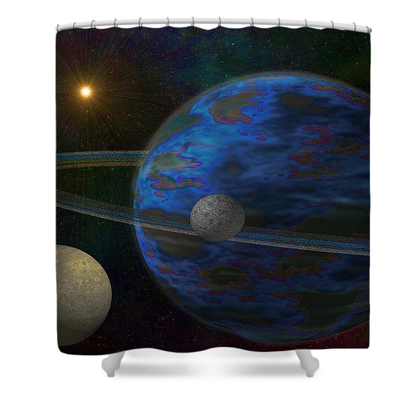 Earth-like Shower Curtain