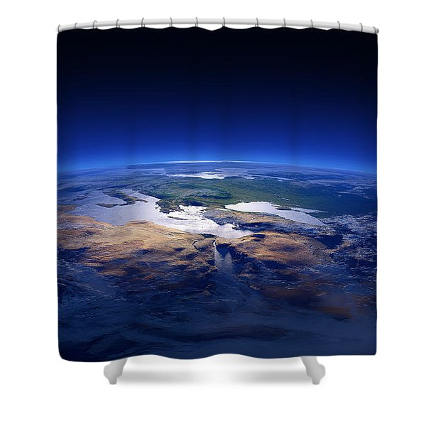 Earth - Mediterranean Countries Shower Curtain