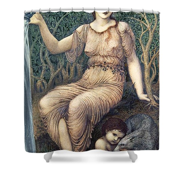 Earth Mother, 1882 Gesso Shower Curtain