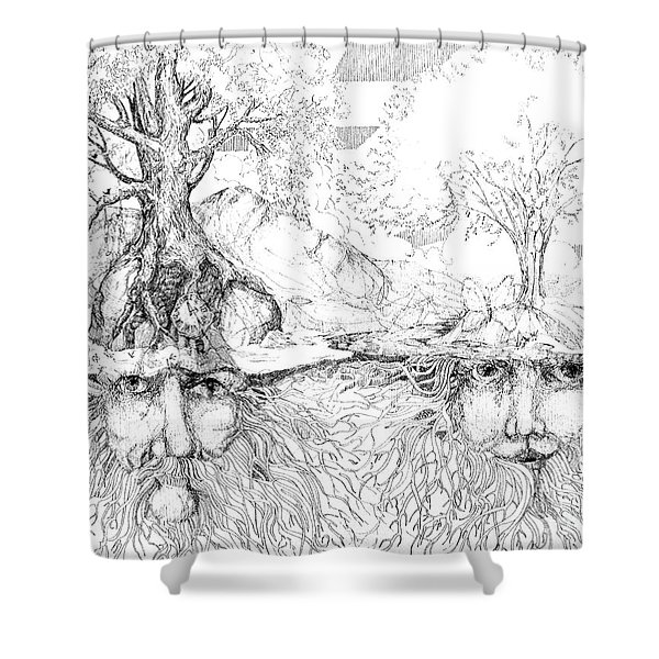 Earth People Shower Curtain