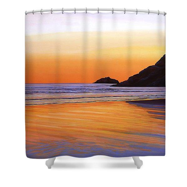 Earth Sunrise Sea Shower Curtain
