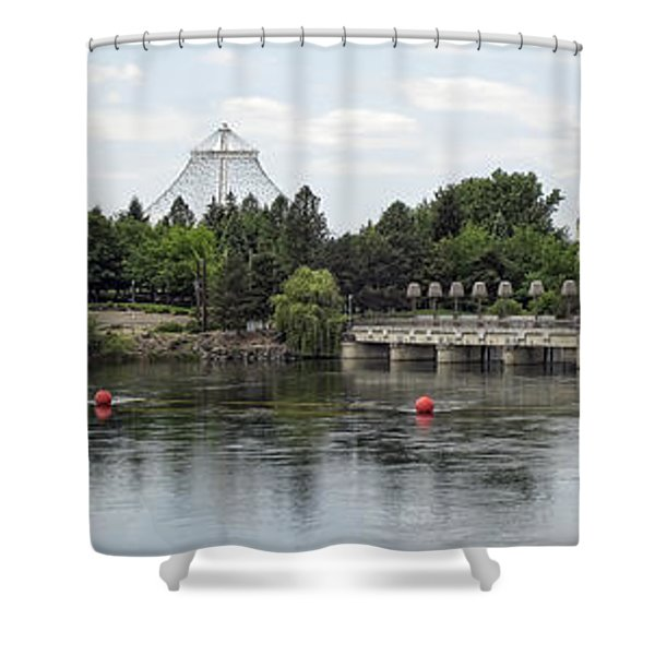 East Riverfront Park And Dam - Spokane Washington Shower Curtain