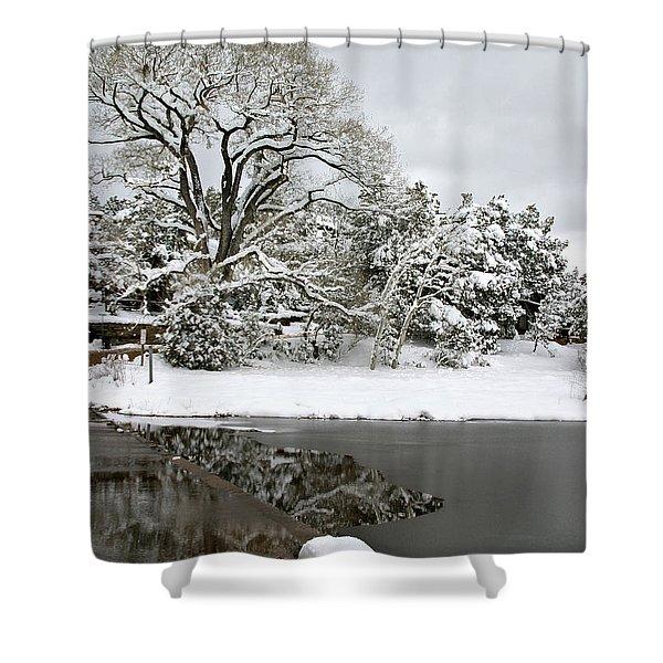 East Verde Winter Crossing Shower Curtain