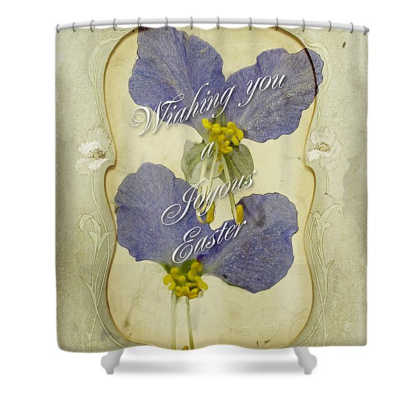 Easter Greeting Card - Asiatic Dayflower Shower Curtain