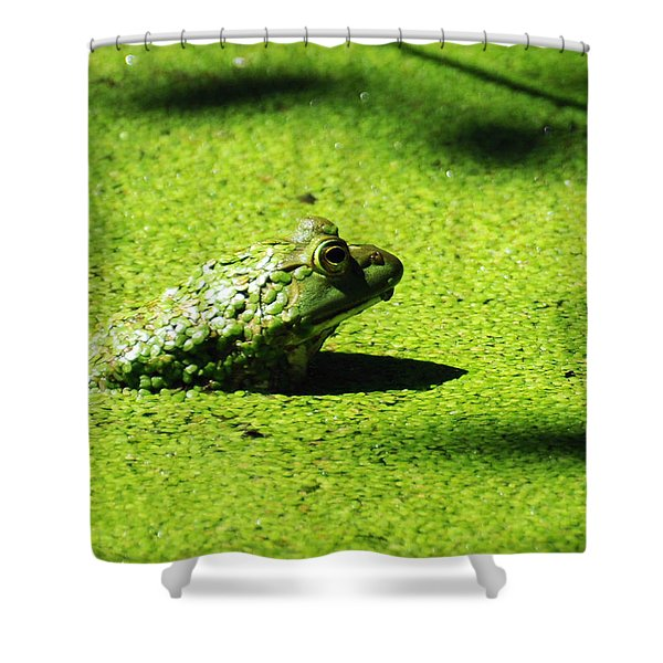 Easy Being Green Shower Curtain