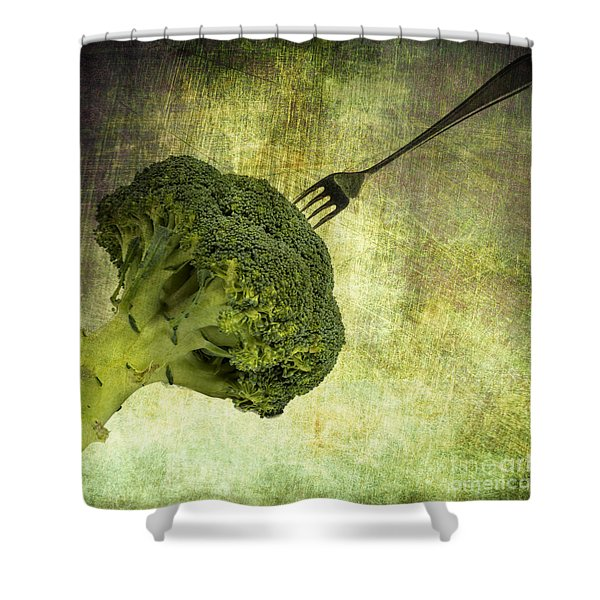 Eat Your Broccoli Shower Curtain