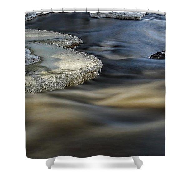 Eau Claire Dells Park River Ice Shower Curtain