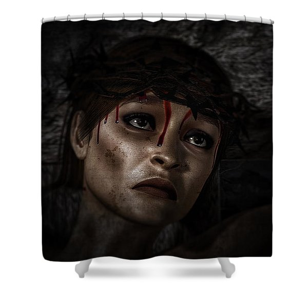 Ecce Femina Shower Curtain
