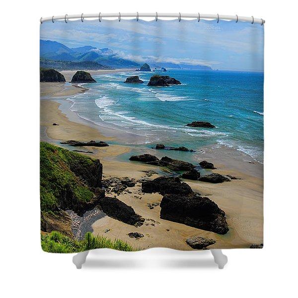 Ecola State Park Beach Shower Curtain