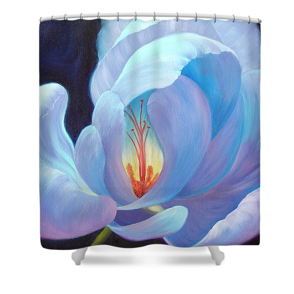 Shower Curtain featuring the painting Ecstasy by Sandi Whetzel