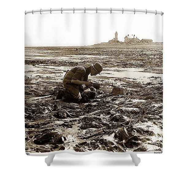 Ed Ricketts At Point Wilson Lighthouse In Port Townsend Wa July 1930 Shower Curtain