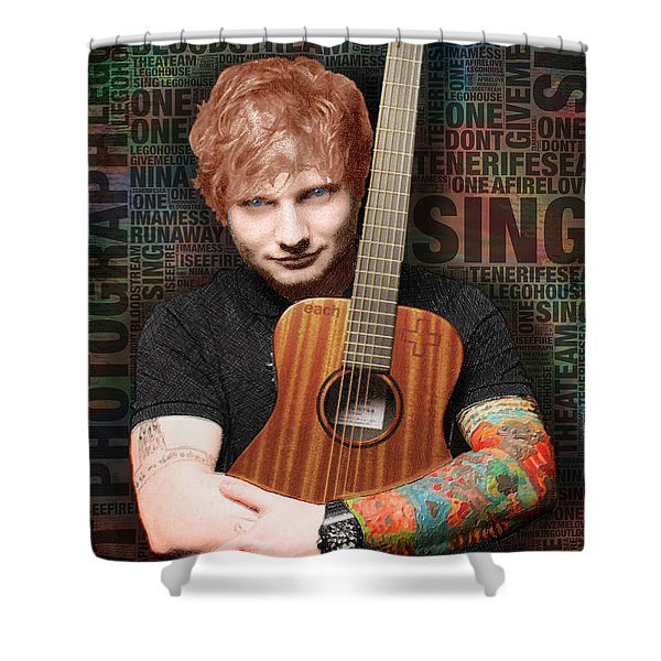 Ed Sheeran And Song Titles Shower Curtain