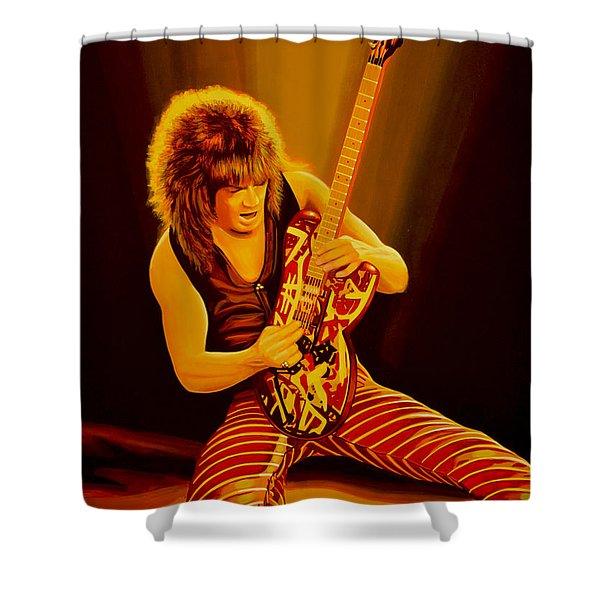 Eddie Van Halen Painting Shower Curtain