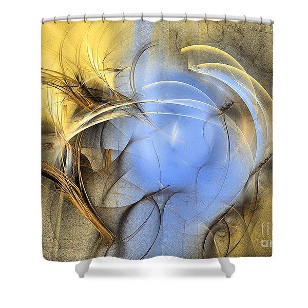 Eden - Abstract Art Shower Curtain