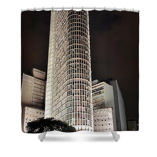 Edificio Italia By Night Shower Curtain