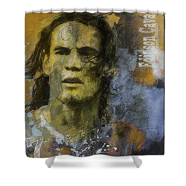 Edinson Cavani - B Shower Curtain