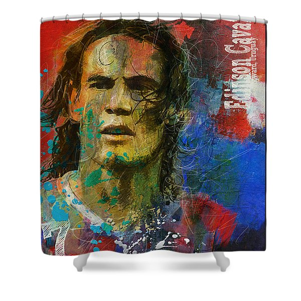 Edinson Cavani Shower Curtain