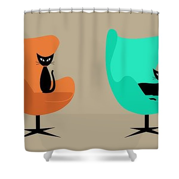 Egg Chairs Shower Curtain