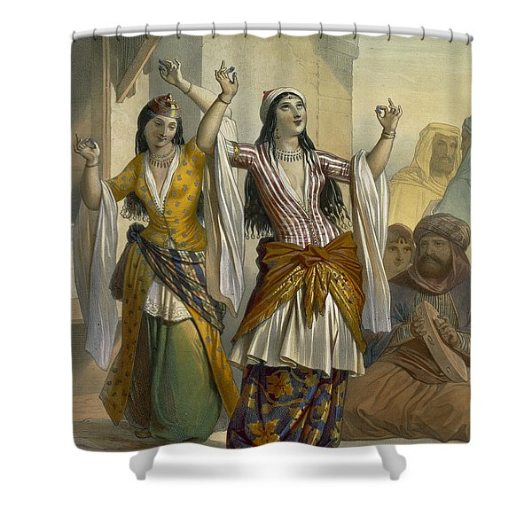 Egyptian Dancing Girls Performing Shower Curtain