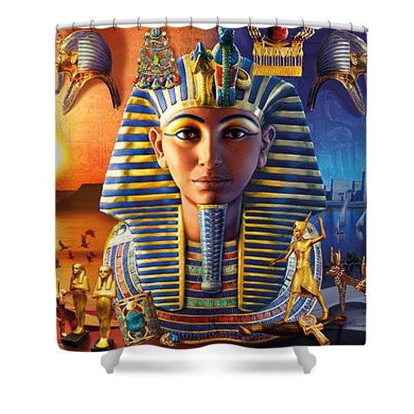 Egyptian Triptych 2 Shower Curtain