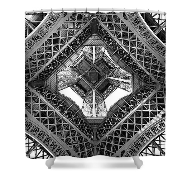 Eiffel Abstract Shower Curtain