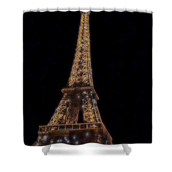 Eiffel Tower 4 Shower Curtain