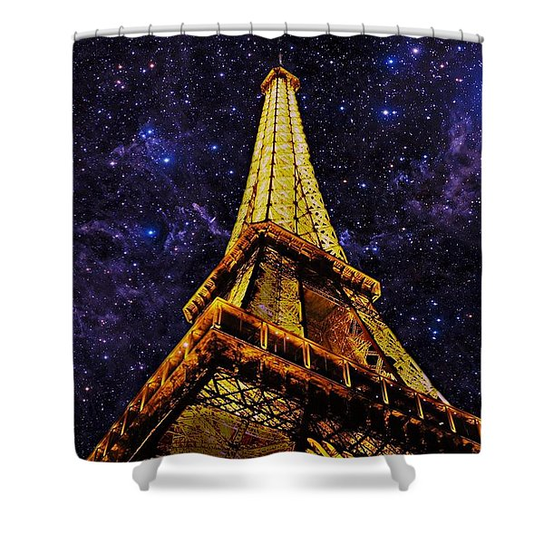 Eiffel Tower Photographic Art Shower Curtain