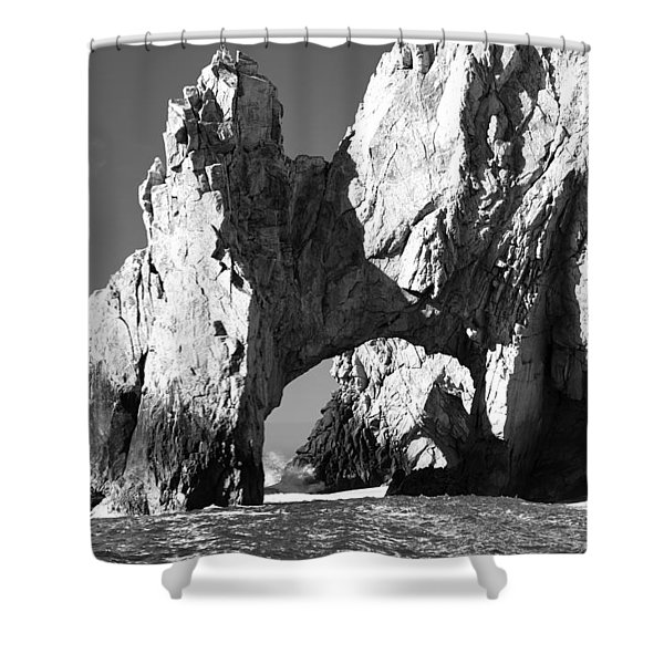 El Arco In Black And White Shower Curtain