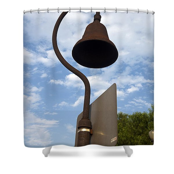 El Camino Real Bell Outside Of San Gabriel Mission Shower Curtain