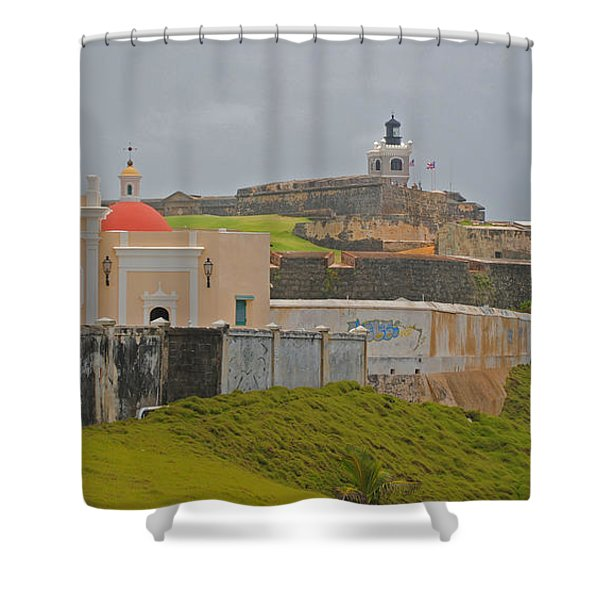 Scenic El Morro Shower Curtain