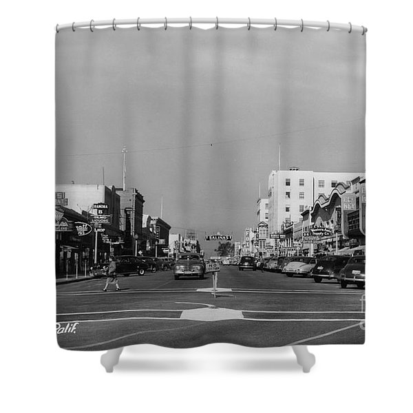 El Rey Theater Main Street Salinas Circa 1950 Shower Curtain