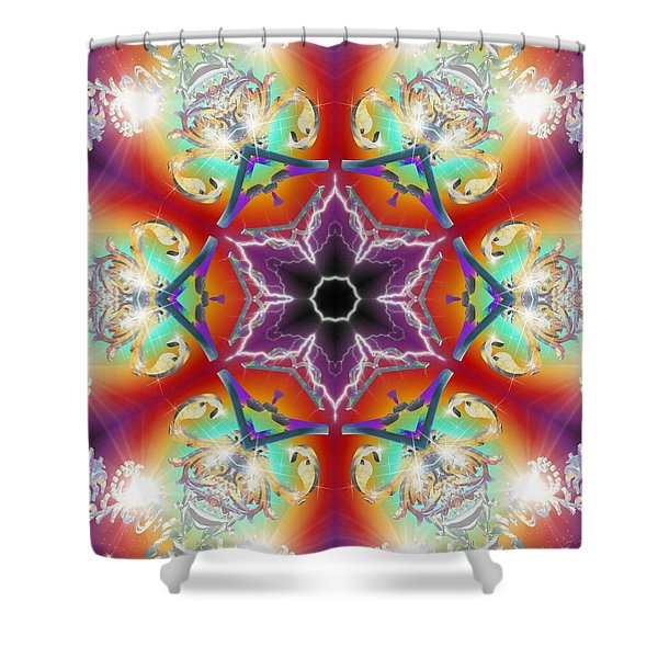 Electric Enlightenment Shower Curtain