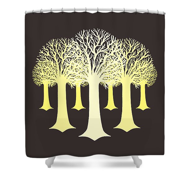 Electricitrees Shower Curtain