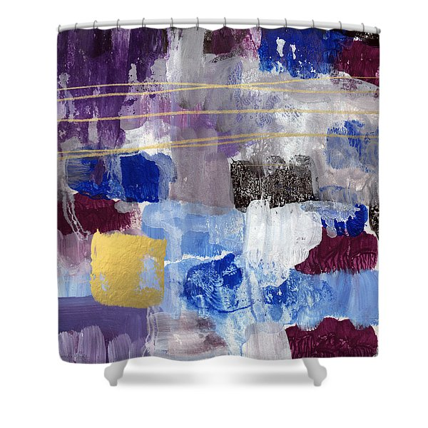 Elemental- Abstract Expressionist Painting Shower Curtain