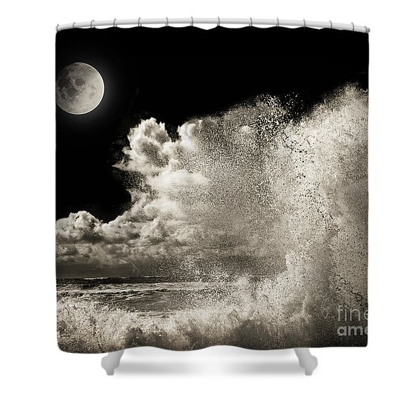 Elements Of Power Shower Curtain