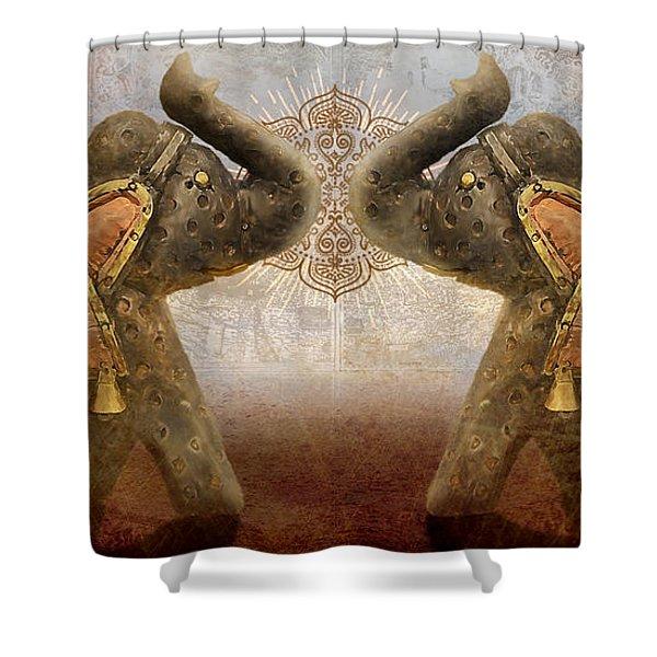 Elephants I Shower Curtain
