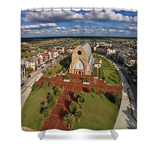 Elevated View Of Ave Maria Oratory Shower Curtain