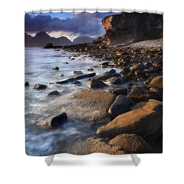 Elgol Sunset Shower Curtain