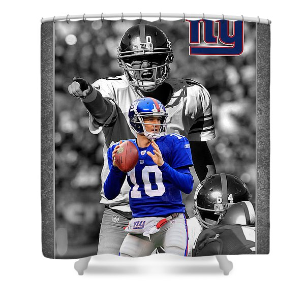 Eli Manning Giants Shower Curtain