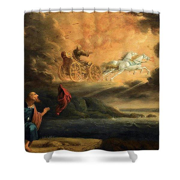 Elijah Taken Up Into Heaven In The Chariot Of Fire Shower Curtain