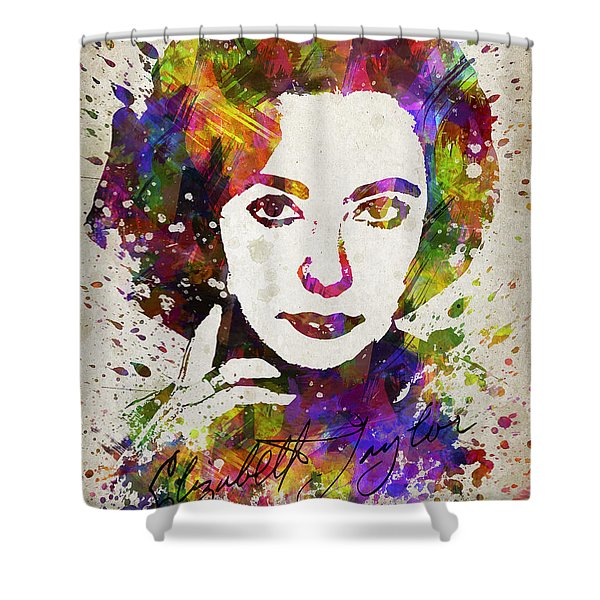 Elizabeth Taylor In Color Shower Curtain