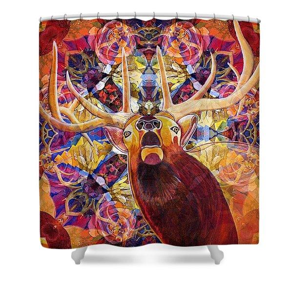 Elk Spirits In The Garden Shower Curtain