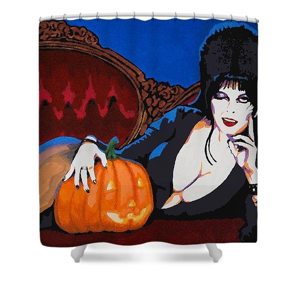 Elvira Dark Mistress Shower Curtain