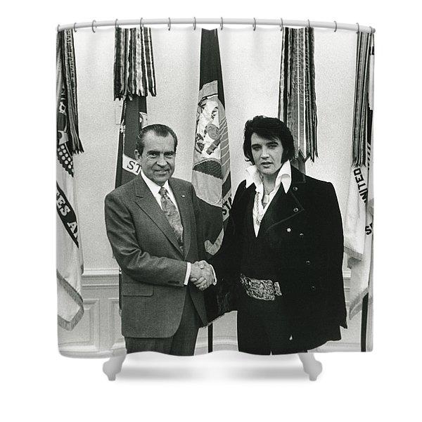 Elvis And Nixon Shower Curtain