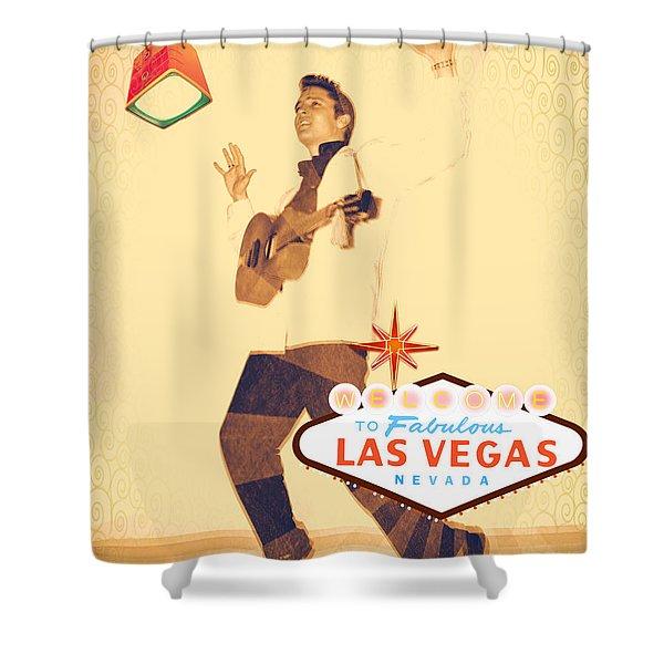 Elvis On Tv Shower Curtain