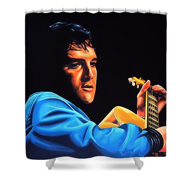 Elvis Presley 2 Painting Shower Curtain