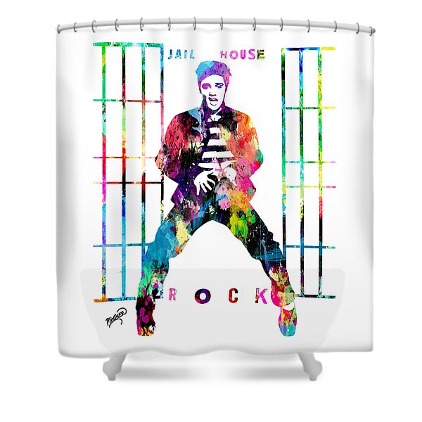 Elvis Presley Jail House Rock Shower Curtain